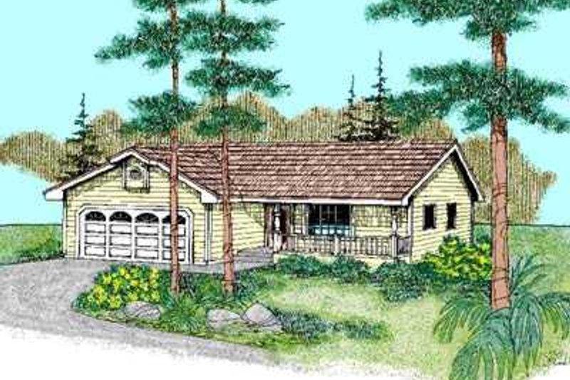 Ranch Exterior - Front Elevation Plan #60-494 - Houseplans.com