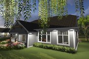 Ranch Style House Plan - 3 Beds 2 Baths 1796 Sq/Ft Plan #70-1243 Exterior - Rear Elevation