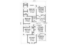Cottage Floor Plan - Main Floor Plan Plan #513-2092