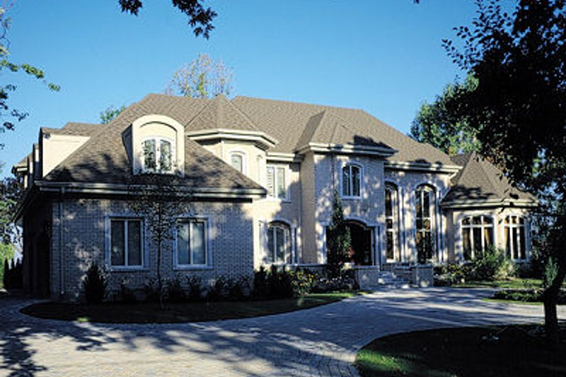 European Style House Plan - 4 Beds 3.5 Baths 6440 Sq/Ft Plan #138-222 Exterior - Front Elevation