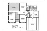 Traditional Style House Plan - 5 Beds 3.5 Baths 3572 Sq/Ft Plan #898-7 Floor Plan - Upper Floor Plan