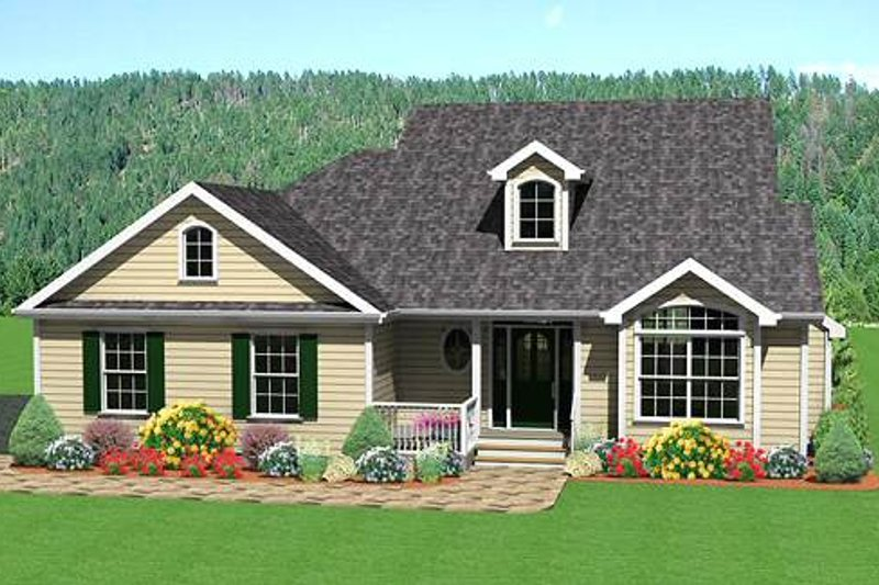 Traditional Style House Plan - 3 Beds 2.5 Baths 1696 Sq/Ft Plan #75-107