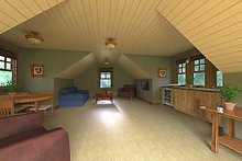 Dream House Plan - Bonus Room of Craftsman style home