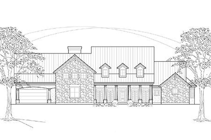 Country Exterior - Front Elevation Plan #61-118