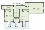 Country Style House Plan - 4 Beds 3 Baths 2789 Sq/Ft Plan #17-556 Floor Plan - Upper Floor Plan