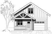 Bungalow Style House Plan - 4 Beds 2.5 Baths 1693 Sq/Ft Plan #423-27 Exterior - Front Elevation