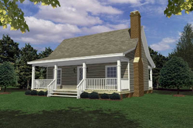 Ranch Style House Plan - 3 Beds 2 Baths 1154 Sq/Ft Plan #21-120 Exterior - Front Elevation