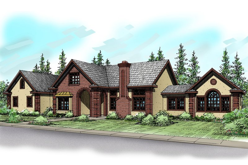 Traditional Exterior - Front Elevation Plan #124-320 - Houseplans.com
