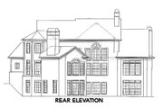 European Style House Plan - 5 Beds 5.5 Baths 3450 Sq/Ft Plan #54-142 Exterior - Rear Elevation