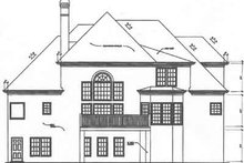 Dream House Plan - European Exterior - Rear Elevation Plan #129-154
