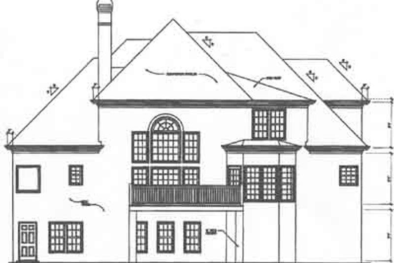 European Exterior - Rear Elevation Plan #129-154 - Houseplans.com