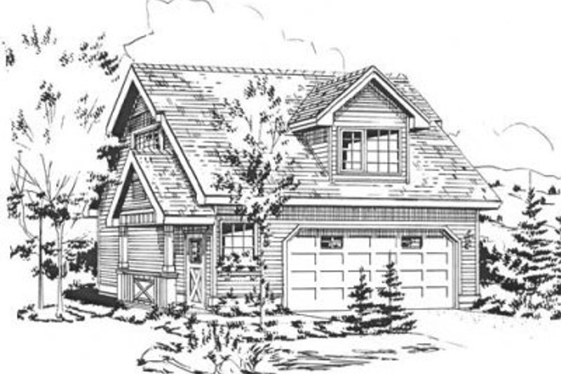 Cottage Style House Plan - 0 Beds 1 Baths 434 Sq/Ft Plan #18-4356 Exterior - Front Elevation