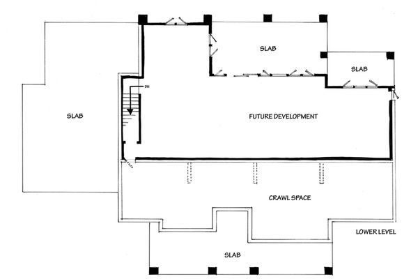 Country Floor Plan - Lower Floor Plan Plan #942-57