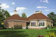 Southern Style House Plan - 3 Beds 2 Baths 1531 Sq/Ft Plan #45-573 Exterior - Rear Elevation