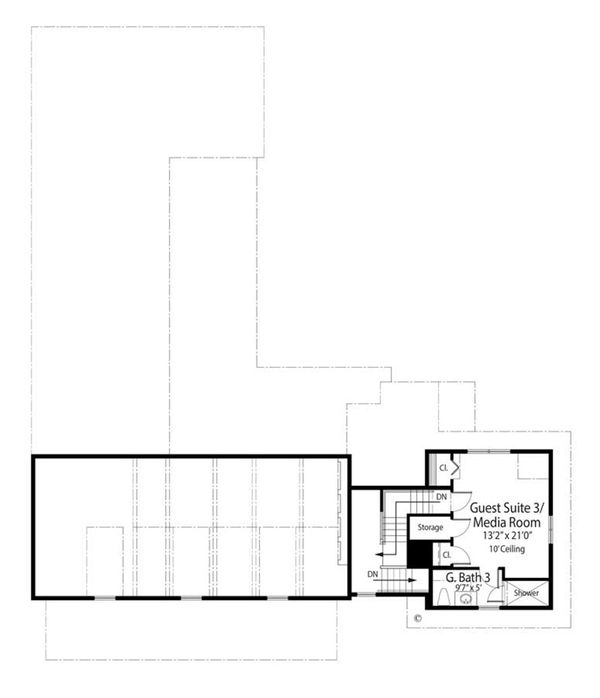 Farmhouse Floor Plan - Upper Floor Plan Plan #938-82