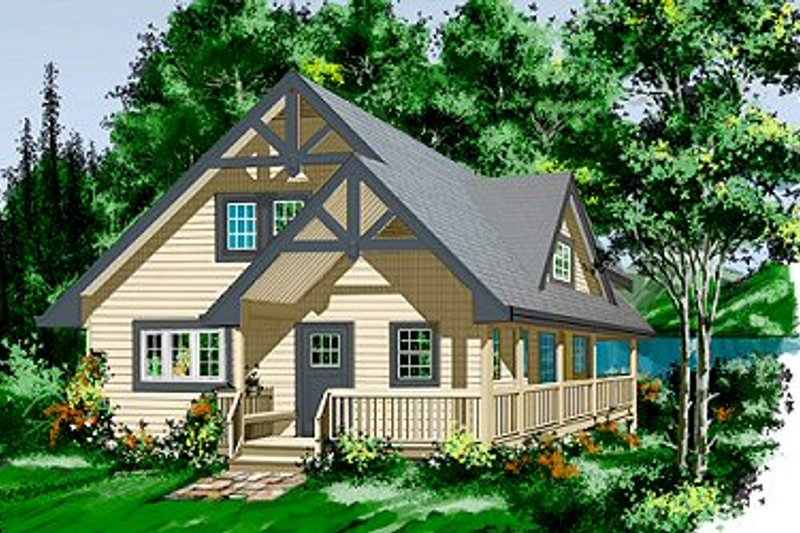 House Plan - 2 Beds 2 Baths 1644 Sq/Ft Plan #118-109 Exterior - Front Elevation