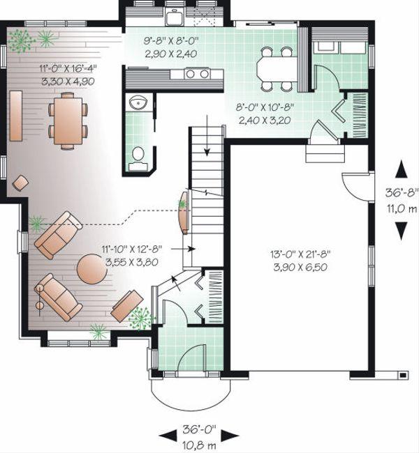 Floor Plan - Main Floor Plan Plan #23-861