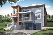 House Plan Design - Contemporary Exterior - Front Elevation Plan #124-1172