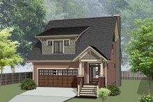 Home Plan - Bungalow Exterior - Front Elevation Plan #79-275