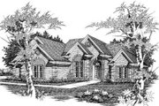 European Style House Plan - 3 Beds 2 Baths 1983 Sq/Ft Plan #329-115 Exterior - Front Elevation