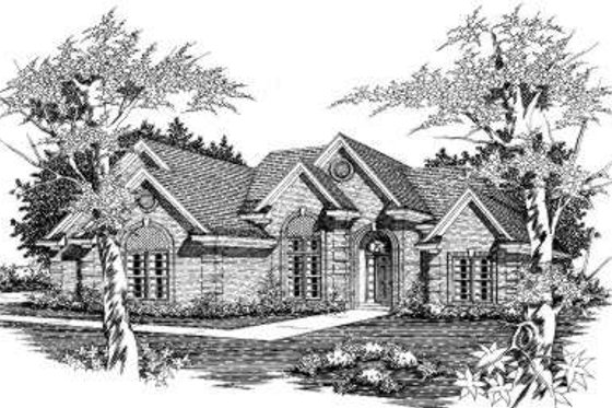 European Exterior - Front Elevation Plan #329-115