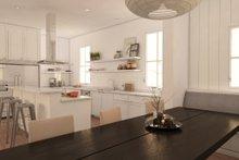 Home Plan - modern craftsman kitchen rendering