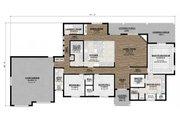 Craftsman Style House Plan - 3 Beds 2 Baths 2298 Sq/Ft Plan #1077-2 Floor Plan - Main Floor Plan