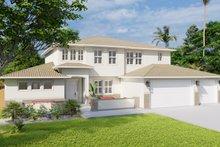 Dream House Plan - Mediterranean Exterior - Front Elevation Plan #1060-29
