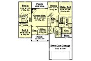 Traditional Style House Plan - 3 Beds 2 Baths 1700 Sq/Ft Plan #430-26 Floor Plan - Main Floor Plan