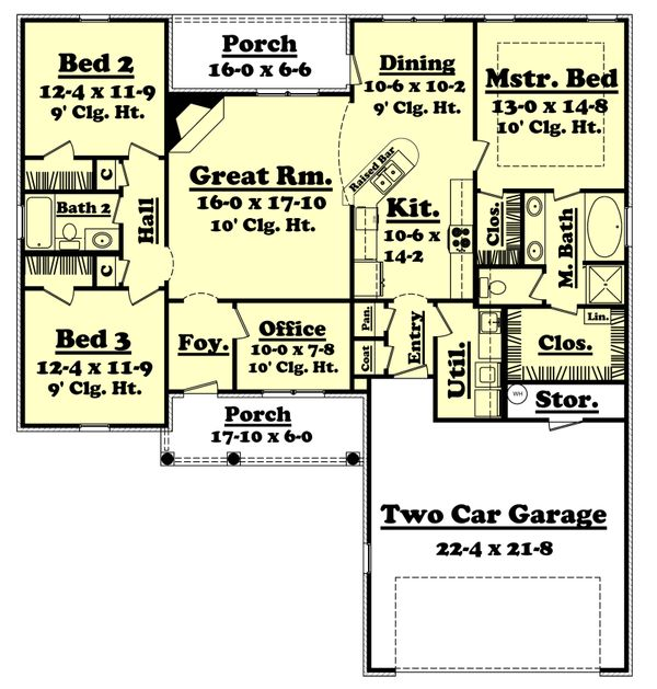 Traditional Floor Plan - Main Floor Plan Plan #430-26