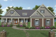 Dream House Plan - Craftsman Exterior - Front Elevation Plan #56-719