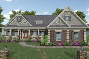 Craftsman Exterior - Front Elevation Plan #56-719