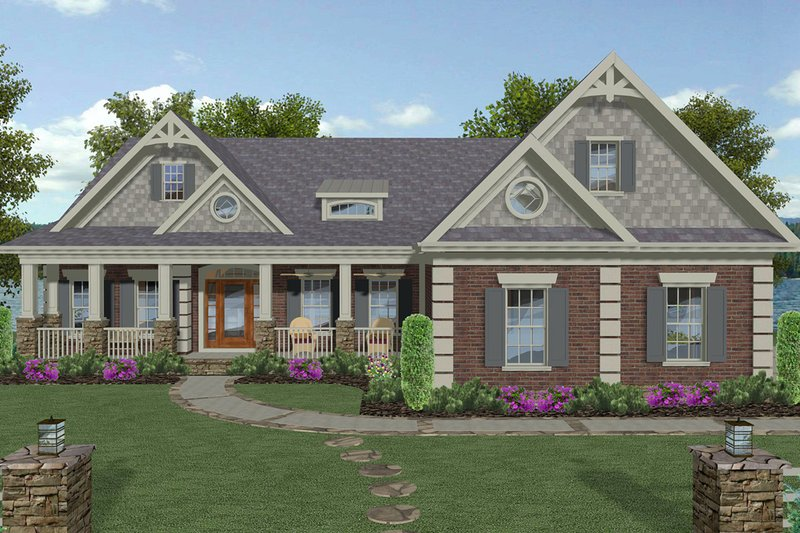 Craftsman Style House Plan - 4 Beds 4.5 Baths 2799 Sq/Ft Plan #56-719