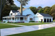 Farmhouse Style House Plan - 4 Beds 4 Baths 3474 Sq/Ft Plan #923-108 Exterior - Other Elevation