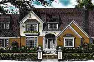 Country Exterior - Front Elevation Plan #40-137