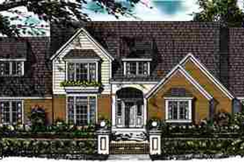 Country Exterior - Front Elevation Plan #40-137 - Houseplans.com