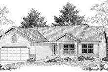 House Design - Ranch Exterior - Front Elevation Plan #70-581