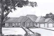 Traditional Style House Plan - 3 Beds 2 Baths 1644 Sq/Ft Plan #310-898 Exterior - Front Elevation