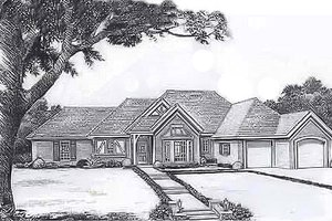 Traditional Exterior - Front Elevation Plan #310-898