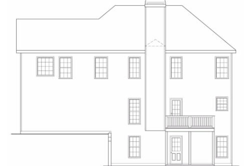 Traditional Exterior - Rear Elevation Plan #419-125 - Houseplans.com