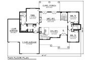 Craftsman Style House Plan - 3 Beds 2 Baths 1921 Sq/Ft Plan #70-1479 Floor Plan - Main Floor Plan