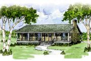 Ranch Style House Plan - 3 Beds 2 Baths 1365 Sq/Ft Plan #36-107 Exterior - Front Elevation