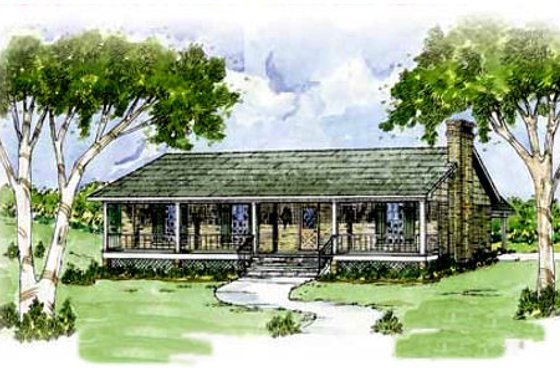 Ranch Exterior - Front Elevation Plan #36-107