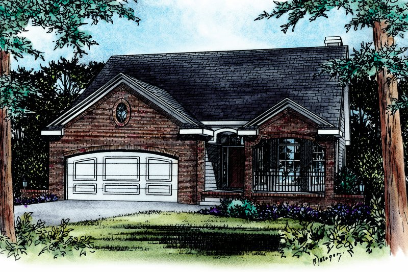House Plan Design - Traditional Exterior - Front Elevation Plan #20-436