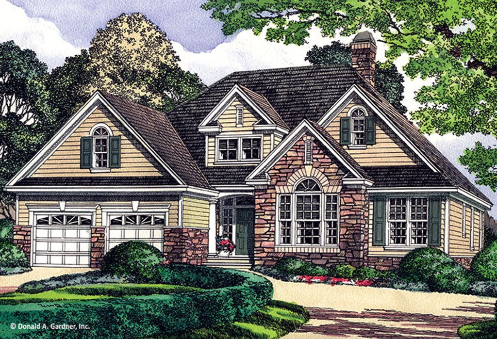 European style house plan 3 beds 2 baths 1676 sq ft plan for 5br house plans