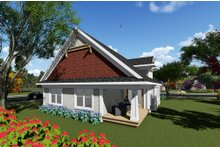 Dream House Plan - Craftsman Exterior - Rear Elevation Plan #70-1260