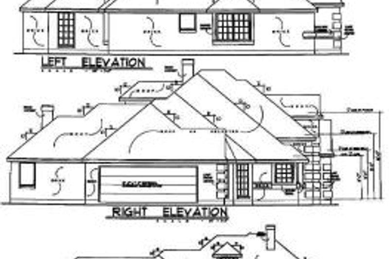 European Exterior - Rear Elevation Plan #40-148 - Houseplans.com