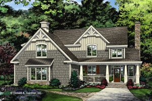 House Plan Design - Craftsman Exterior - Front Elevation Plan #929-1032