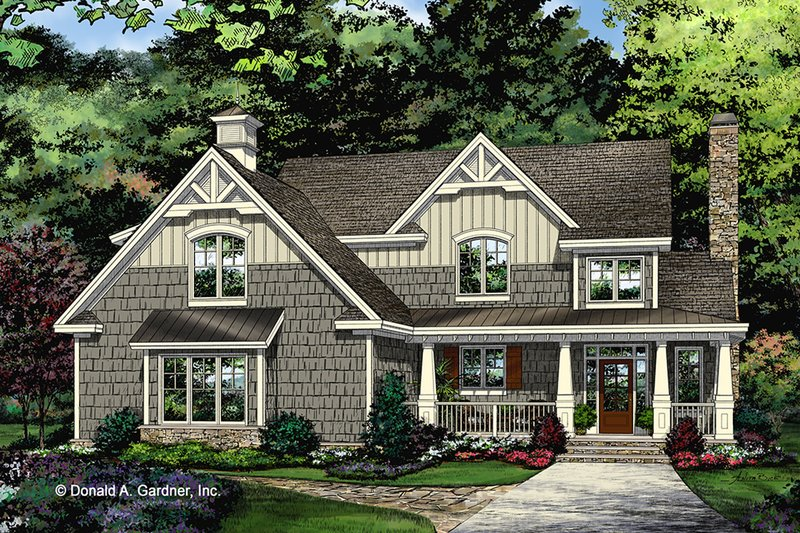 Craftsman Exterior - Front Elevation Plan #929-1032
