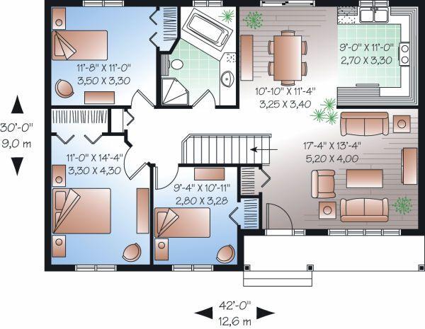 Ranch Floor Plan - Main Floor Plan #23-779